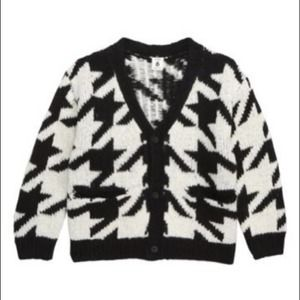 Stem houndstooth check cardigan - size 7 NWT!